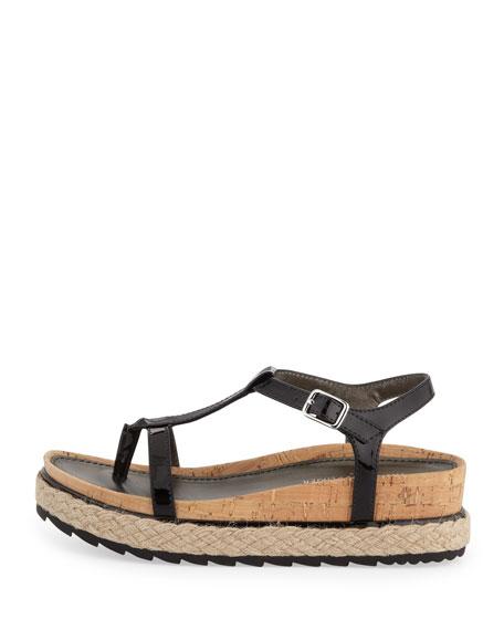 Cleo Patent Thong Sandal, Black