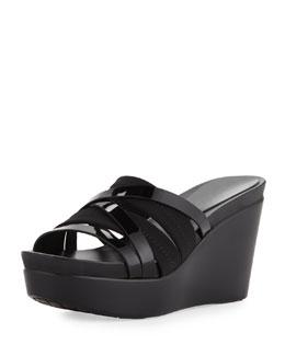 Donald J Pliner Jean Strappy Wedge Sandal, Black