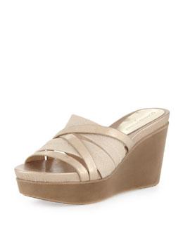 Donald J Pliner Jean Strappy Wedge Sandal, Platino
