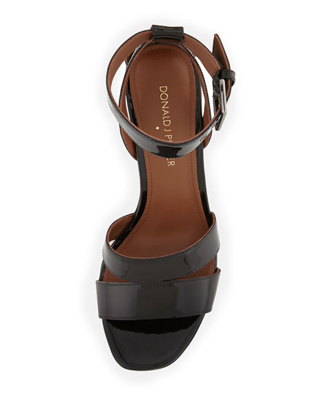 Margi Patent Ankle-Wrap Sandal
