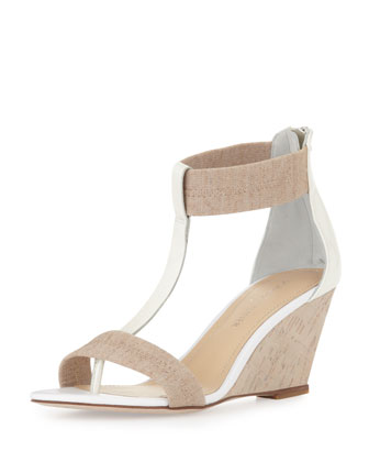 Palo T-Strap Wedge Sandal, Natural