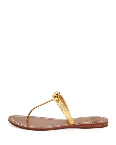 Leighanne Bow Thong Sandal, Gold