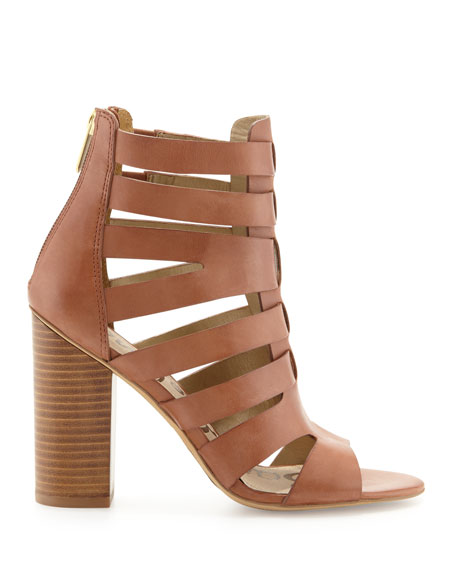 Yazmine Leather Cage Sandal