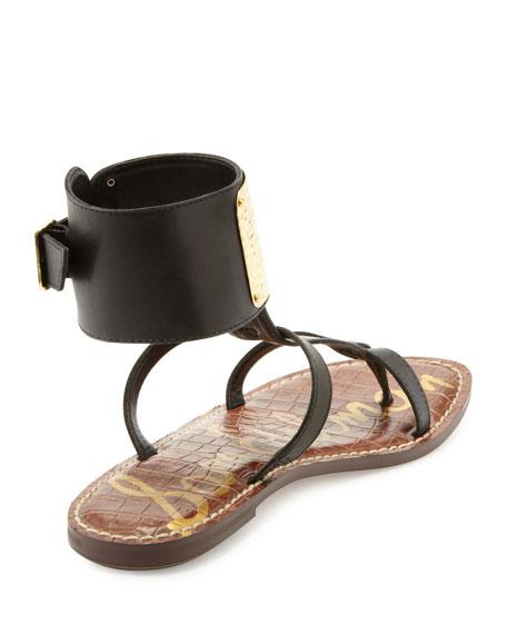 Genette Ankle-Plate Gladiator Sandal