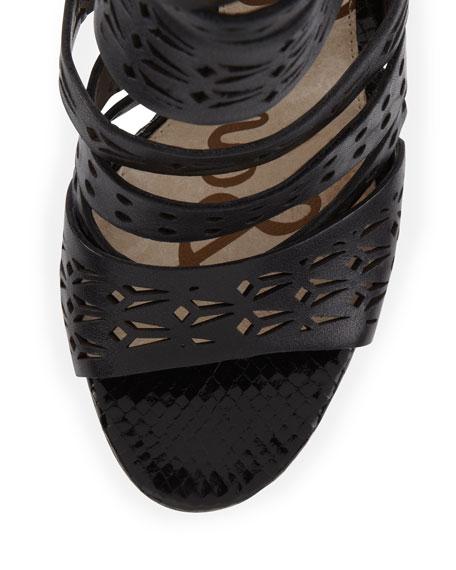 Alysia Strappy Laser-Cut Sandal