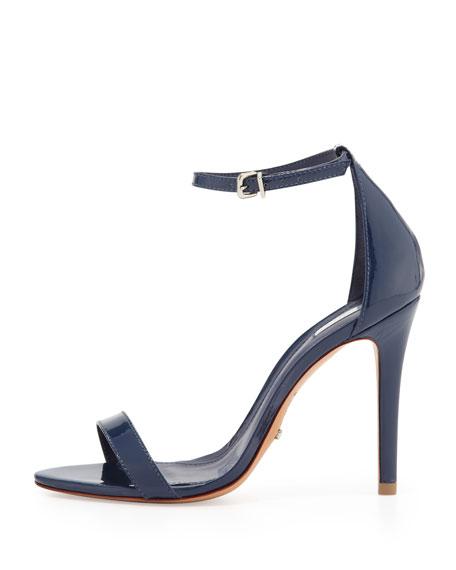 Cadey Lee Patent Ankle-Wrap Sandal