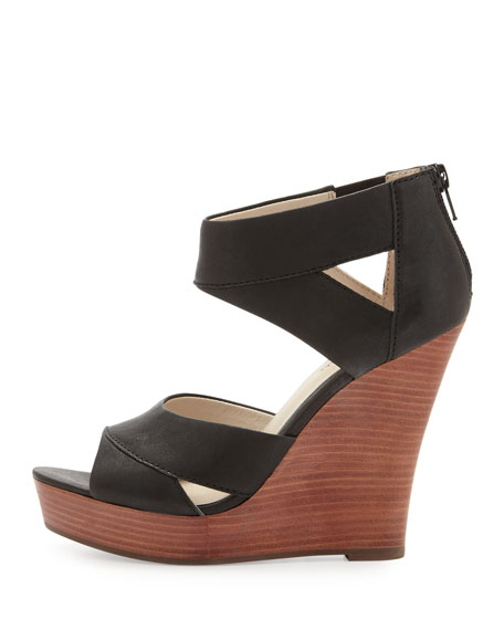 Seychelles Give it Back Leather Wedge, Black