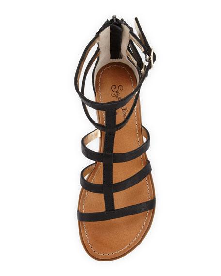 Aim High Gladiator Sandal, Black