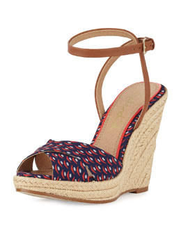Splendid Benton Sailboat Print Wedge Sandal
