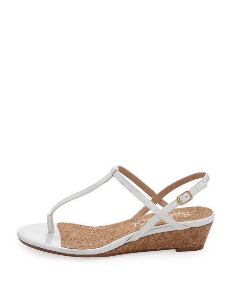 Splendid Edgewood T-Strap Wedge Sandal, White
