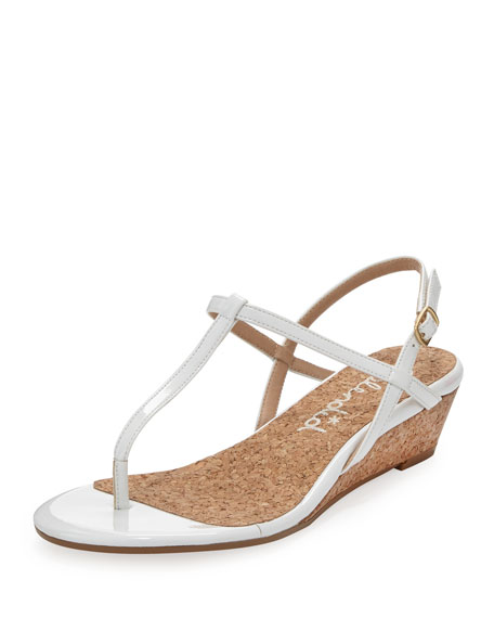 Edgewood T-Strap Wedge Sandal, White