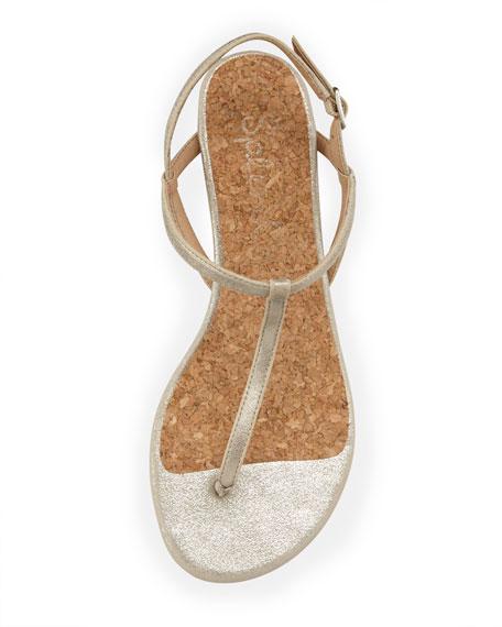 Edgewood T-Strap Wedge Sandal, White