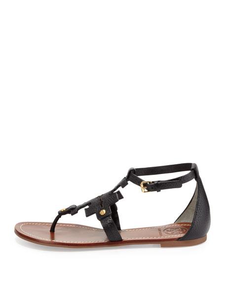 Phoebe Logo Thong Sandal, Black