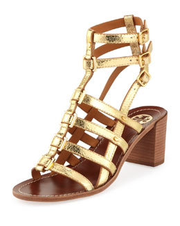 Tory Burch Reggie Gladiator City Sandal, Gold