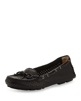 Frye Reagan Perforated Driver, Black