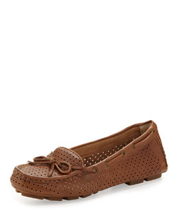 Frye Reagan Perforated Driver, Tan