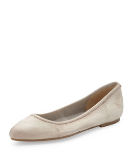 Frye Regina Leather Skimmer Flat, Cement