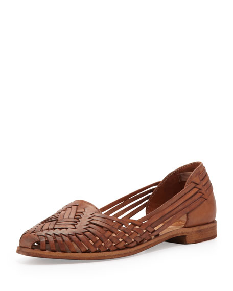 Heather Huarache Sandal, Cognac