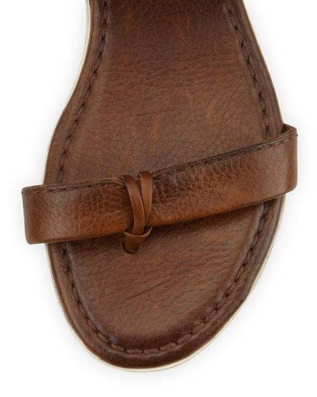 Amelia Leather Slingback Sandal, Cognac