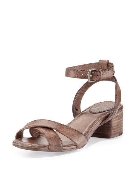 Philip Two-Piece Ankle-Wrap Sandal