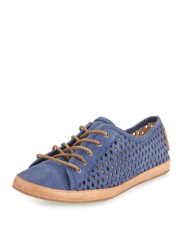 Frye Tegan Perforated Laced Low Sneaker