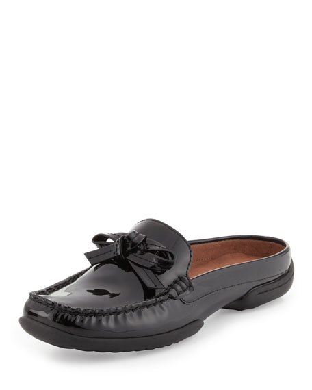 Viti Patent Loafer Mule, Black