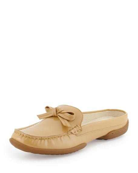 Viti Patent Loafer Mule, Nude