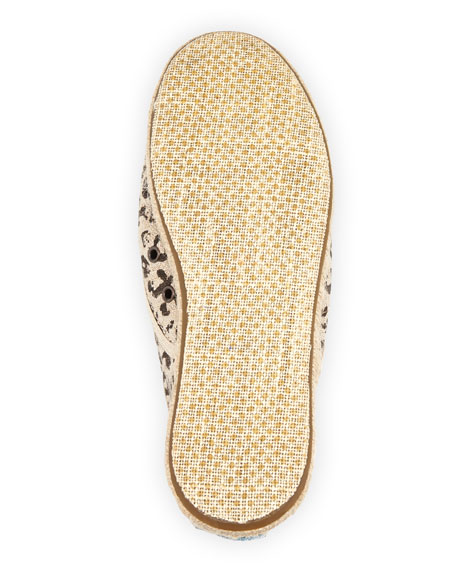 Cordones Leopard-Print Lace-Up