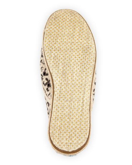 Cordones Leopard-Print Lace-Up