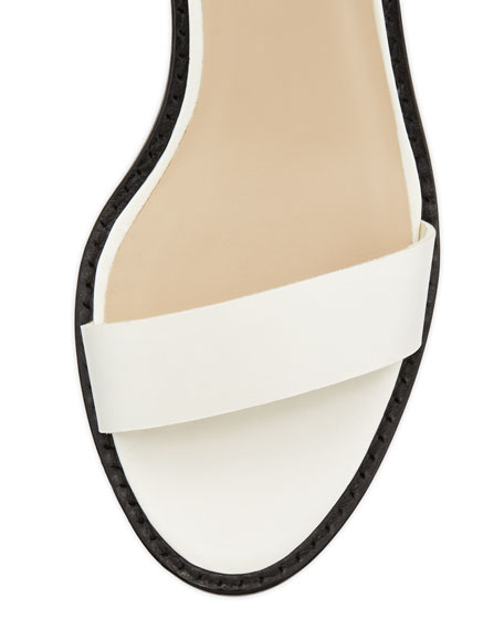 Maude Triple-Strap Gladiator Sandal, White