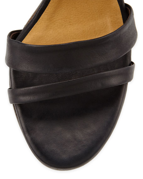 Cersei Chunky Leather Sandal, Black