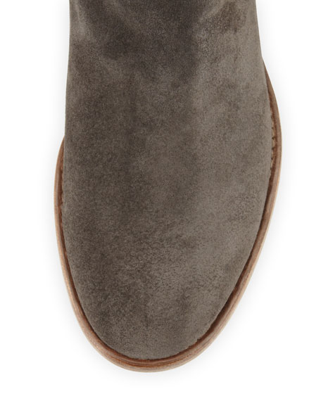 Umbria Slouchy Suede Bootie, Anthracite