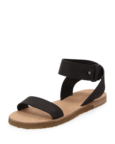 Harper Leather Sandal, Black