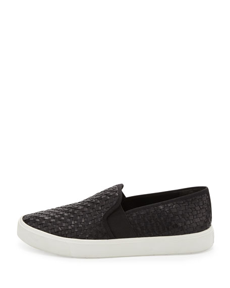 Preston Leather Slip-On Sneaker, Black