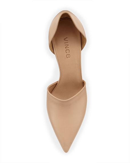 Claire Two-Piece Leather Pump, Cappuccino