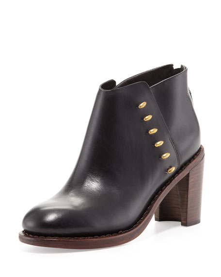 Ayle Leather Ankle Boot, Black