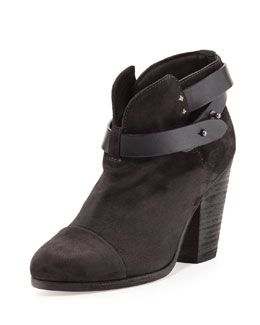 Rag & Bone Harrow Suede Ankle Boot, Asphalt Gray