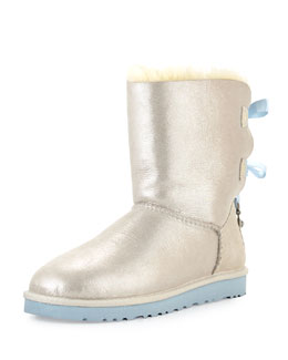 UGG Australia I Do! Bailey Bling-Bow Boot, White