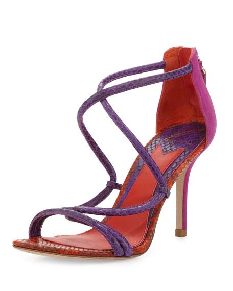Estefania Tricolor Snake Sandal