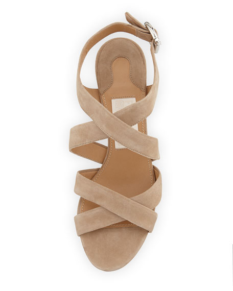 Persy Suede Strappy Wedge Sandal