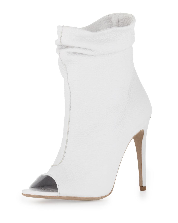 off white open toe heels