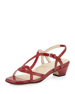 Taryn Rose Odele Strappy Patent Sandal, Red