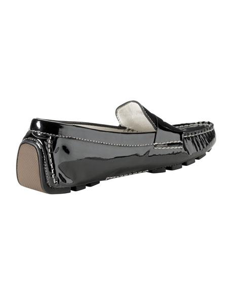 Air Sadie Patent Leather Driver, Black