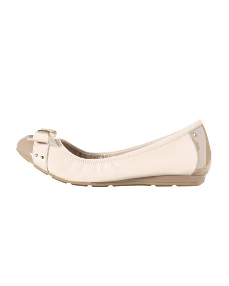 Air Monica Leather Ballet Flat, White