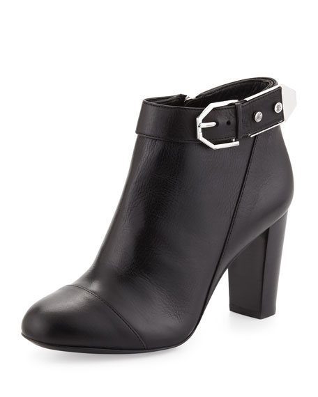 Gabriella Leather Bootie, Black