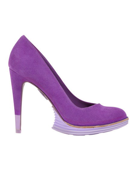 LunarGrand Chelsea Suede Pump, Aster Purple