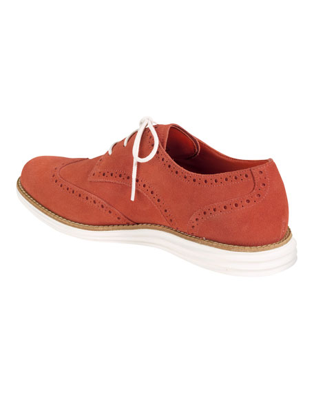LunarGrand Suede Wingtip Oxford, Orange