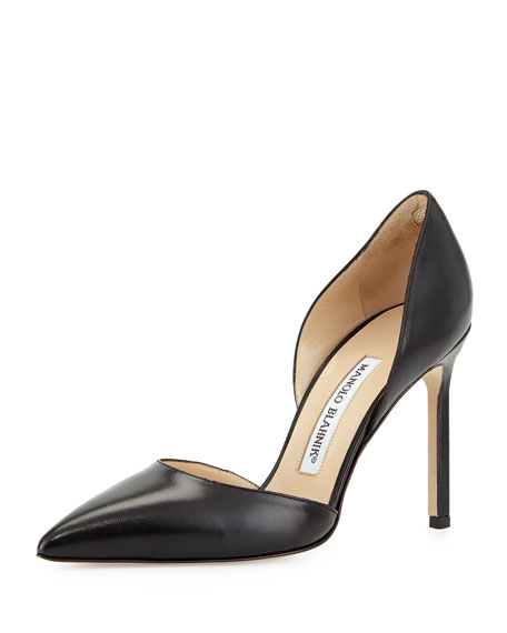Tayler Tonal Leather d'Orsay Pump, Black