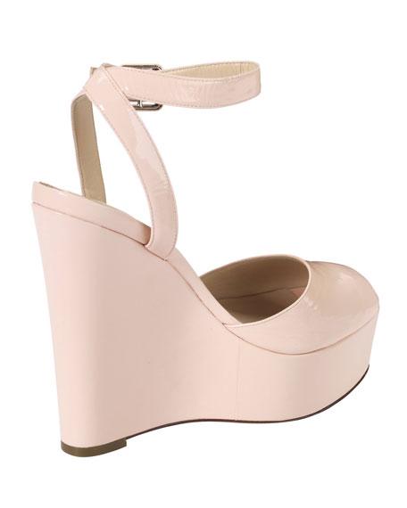 Jen & Oil Mary Jane Patent Platform Sandal, Blush