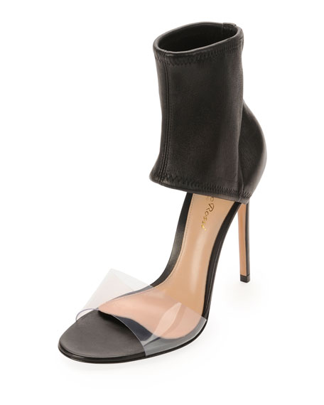 Napa Stretch Ankle-Band Sandal, Nero